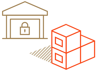 Warehouse storage icon